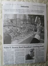 Obituary: Walter F. Brown Fired The Starting Pistol At The Boston Marathon