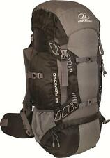 Highlander Discovery Black/Grey 65 Litre Rucksack, Hiking, D of E,Camping