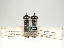 MATCHED PAIR NOS CV4079-A2293-GEC ENGLAND-BOXED 1961 BY VALVO-POWER TRIODES