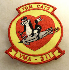 USMC 80/90'S VMA SQUADRON 311 TOM CATS EMBROIDERED ON TWILL MERROWED EDGE