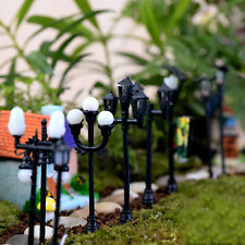 5X Miniature Resin Fairy Multi-Types Streetlight Dollhouse Garden Lawn Ornaments