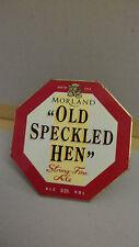 Vintage Morland Old Speckled Hen Ale Beer Pump Clip Bar Collectible