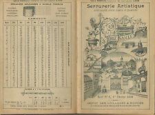 CATALOGUE SERRURERIE EMILE RAOULX LYON IRONWORK CATALOG 1898