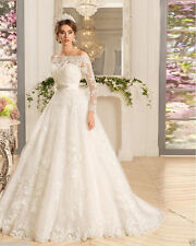 Noble White/ivory Wedding dress Bridal Gown custom size 6-8-10-12-14-16 18++++