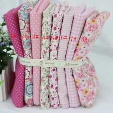 8 pcs pink Fabric Cotton Fabrics for Sewing Patchwork quilting tissue 48x48cm