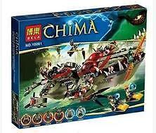 正品博乐10061(鳄霸王指挥船) Bela Model No 10061 Chima 620pcs