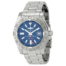 Breitling Avenger II GMT Blue Dial Stainless Steel Automatic Mens Watch