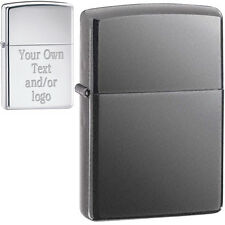 Custom Engraving - Black Ice Zippo® Lighter, YOUR TEXT!, Made in USA