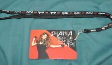 Shania Twain Rock This Country Tour Exclusive VIP Lanyard & Pass + Free Gift