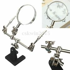 3th Hand Magnifier Station Stand Holder Helping Soldering Iron Magnifying Tool