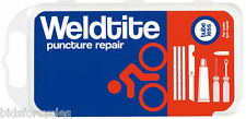 WELDTITE PUNCTURE REPAIR BICYCLE KIT TUBELESS FOR OUTER TYRE REPAIRS inc TOOLS