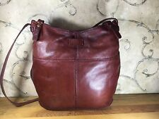 Lucky Brand Red Soft Lamb Leather Messenger Cross body Bag Purse Handbag