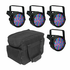 Chauvet DJ SlimPAR 38 LED DMX SlimPar Can Light Effect (4 Pack) + Transport Bag