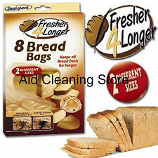 Sealapack 8 Bread Bags Keeps Loaf Fresher For Longer Two Sizes Of Bags SAP1041