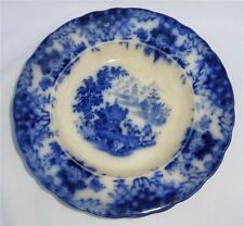 Antique FLOW BLUE Oriental Design RORSTRAND Swedish Porcelain Bowl