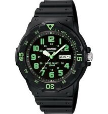 Casio MRW200H-3B Men's Black Resin Strap 100M Sports Easy Reader Analog Watch