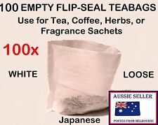 100x NEW Empty FLIP-SEAL Tea Bags * Bath Bombs * Sachets * Potpourri * Fizzies &