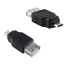 USB Micro B Male to USB A Female Adapter Converter Changer Connector Gender