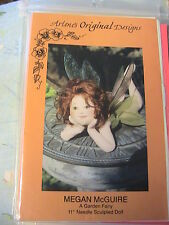 "FAIRY MEGAN McGUIRE~Arlene Cano 1992 *RARE 11"" whimsical cloth art doll pattern"