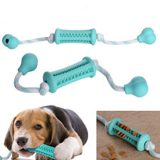 Pet Dog Puppy Cat Rubber Dental Teeth Chew Bone Food Feeder Dispenser Play Toy