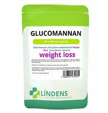 Glucomannan Konjac Fibre Capsules DOUBLE PACK 500mg x 180 Diet Weight
