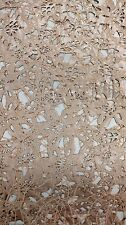"Taupe Vinyl Faux Leather Lace Fabric By Yard Vixen Hand Cut 46""-60"""