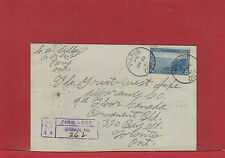 Paris, Ont 1941 Registered 13 cent Halifax Harbour single use Canada cover