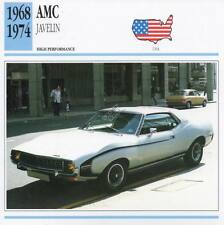 1968-1974 AMC Javelin Classic Car Photo/Info Maxi Card
