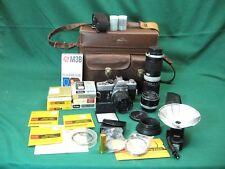 Minolta SRT-101 35mm SLR Film Camera Bundle + 58mm 28mm 85-200mm Lenses BUNDLE