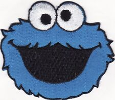 Cookie Monster Sesame Street Embroidered Iron on Patch 2 1/2""
