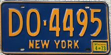 FREE UK POSTAGE American New York Blue USA License Number Plate DO 4495