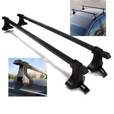 "Black Top Luggage Kayak Cargo Cross Bars Roof Rack Carrier 48"" SUV Pair Car"