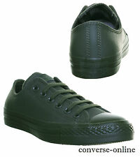 Da Uomo Converse ALL STAR MONO LEATHER OX Scarpe Da Ginnastica Verde Kaki Tg UK 10
