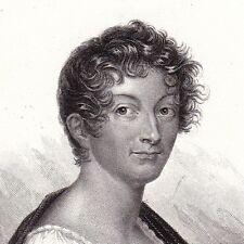 Portrait XIXe Pauline de Meulan Femme de Lettres François Guizot 1836