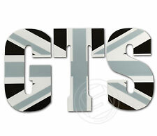 GTS Sticker Fits Vespa Legshield or Fly Screen - Black Union Jack Decal LT18