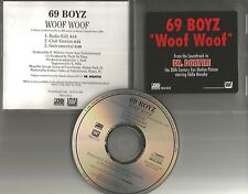 69 BOYZ Woof w/ RADIO EDIT & CLUB MIX & INSTRUMENTAL PROMO DJ CD single 1996 USA