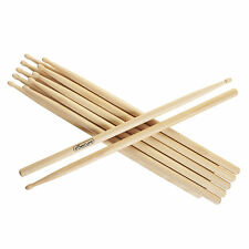 12 Drum Sticks 5A Drumsticks Maple High Quality Wood UK