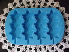 Wilton Freezer Microwave Oven Cake Icy Pops 4 Stacked Stars Pop Silcone Blue