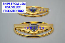 2010-2015 HYUNDAI GENESIS COUPE GOLD wing emblem for GRILLE+TRUNK (total of 2)