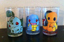 Pokemon Shot Glass Set of 3 Charmander Squirtle Bulbasaur Cyndiquil Pikachu