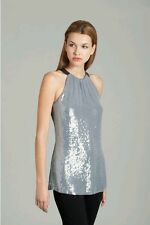 Wow $148 GUESS BY MARCIANO DONNA SEQUINED HALTER TOP