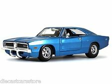 MAISTO 1969 DODGE CHARGER BLUE 1/25 DIECAST NEW IN BOX 31256BL