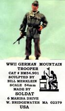 SOLDAT BM54.901 - WWII GERMAN MOUNTAIN TROOPER - 54mm RESIN KIT RARITA'