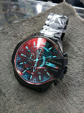 New Diesel DZ4318 Mega Chief Black Chronograph Men's Wrist Watch