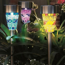 3Pack Mosaic LED Solar Power Decor Light Outdoor Garden Yard Lawn Landscape Lamp
