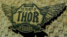 THOR HELMET NAMEPLATE FOR YOUR PROP DISPLAY DARK WORLD AVENGERS HAMMER