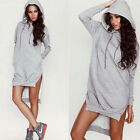 Womens Hoody Hoodie T-Shirt Short Jumper Dress Ladies Hooded Sweatshirt Dress