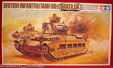 Rare Vintage Tamiya Kit #40 - Motorized 1/35 British Matilda MkII Tank (Started)