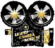 Hollywood theme party Decorate  with our Lights,Camera, Action Mylar Balloon
