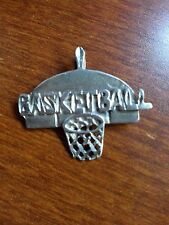 STERLING SILVER .925 BASKETBALL PENDANT CHARM NOT FOR SCRAP